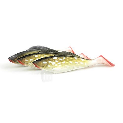 4pcs Fishing Lure Soft Fish Bait Fluke Saltwater Lure Fishing Tackle 85mm 6.6g/pc