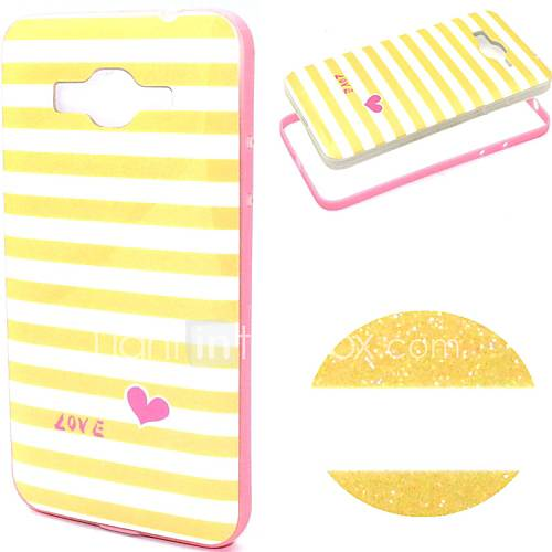 For Samsung Galaxy Case Pattern Case Back Cover Case Lines / Waves TPU Samsung Grand Prime