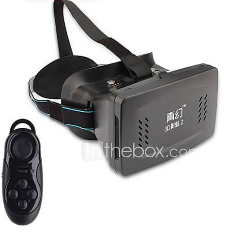 "RITECH II Virtual Reality VR 3D Glasses w/ Suction Disk for 3.5~6.0"" Smart Phones - Black"