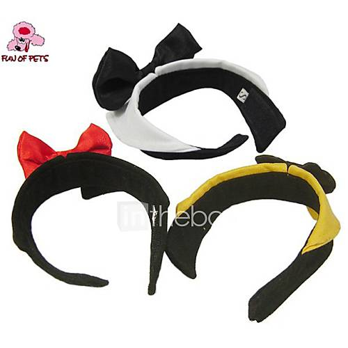 Cat / Dog Tie/Bow Tie Yellow / Black / White Dog Clothes Spring/Fall Bowknot Cute / Wedding