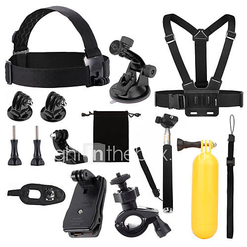 Accessories For GoProProtective Case Monopod Tripod Case/Bags Screw Buoy Suction Cup Straps Clip Hand Grips/Finger Grooves Mount/Holder