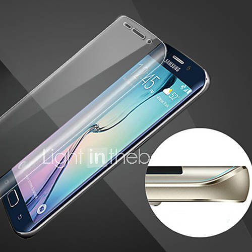 Scratch-Proof  Sphere Full Coverage of HD Fingerprint-Proof Steel Soft Glass Film for Samsung Galaxy S6 edge