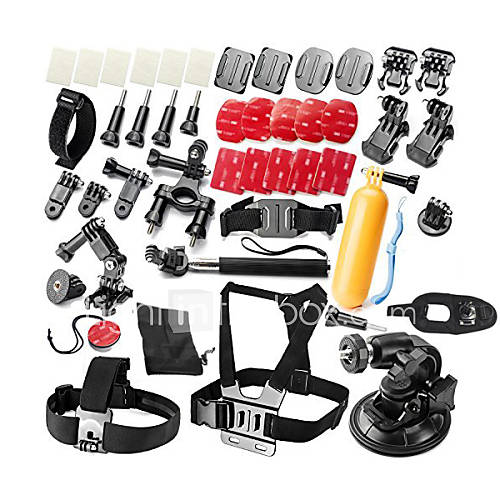 Gopro Accessories Protective Case / Monopod / Tripod / Straps / Gopro Case/Bags / Screw / Buoy / Suction Cup / Accessory KitAll in One /