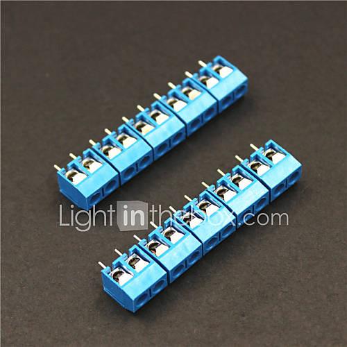 2 pines terminales 5.0mm bloques conectores – azul (5 piezas) Miniinthebox por 1.95€