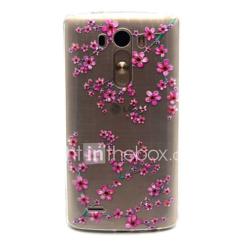 Plum flower Pattern TPU Relief Back Cover Case for LG G3 Cases / Covers for LG