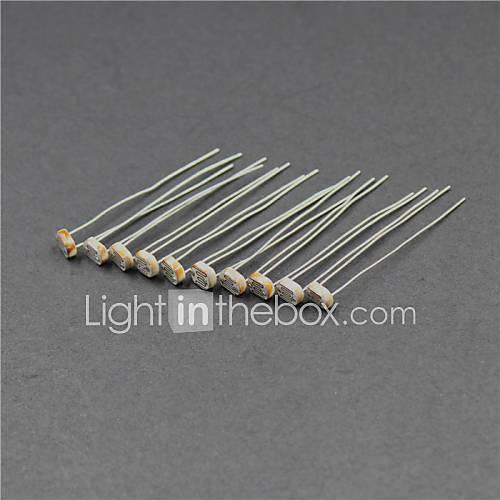 fotoresistor 5516 / 5mm fotoeléctrico Sensor - plata  café (10 piezas) Descuento en Miniinthebox