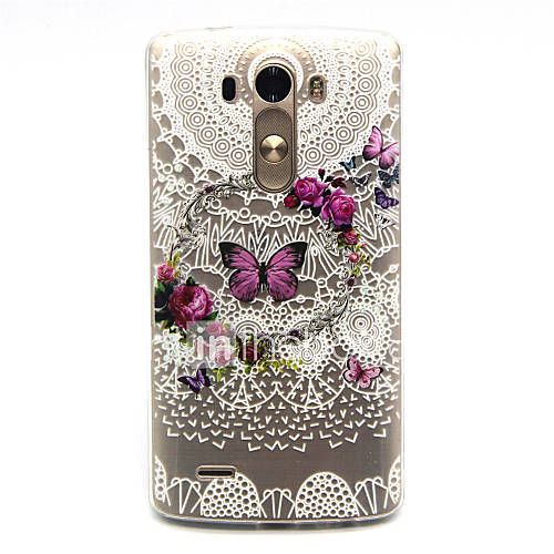 Case For LG G3 LG LG Case Pattern Back Cover Butterfly Soft TPU for