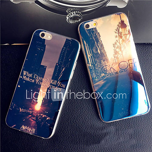 iPhone 7 Plus Sunset Sunrise City Blue Light Reflective Blu-ray Soft TPU Case for iPhone 6s 6 Plus