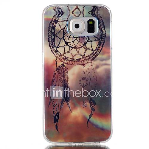 Dreamcatcher Pattern Blu-ray TPU Soft Back Cover Case for Galaxy S6/ S6 Edge/S6 Edge Plus/S3/S4/S5
