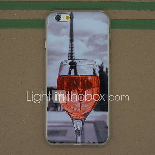 Red Wine Glass Pattern Thin PC Hard Back Cover Case for iPhone 6S Plus/6 Plus