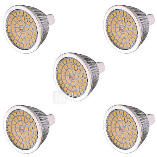 YWXLight 5 pcs MR16(GU5.3) 10W 48 SMD 2835 810 LM Warm White / Cool White LED Spot Lights AC 85-265 / AC 12 V