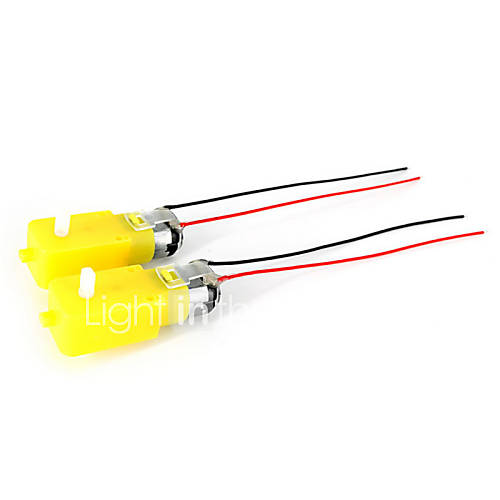 Motor 3v-6v motorreductor dc gran par w / cable para coche inteligente (2pcs) Descuento en Miniinthebox