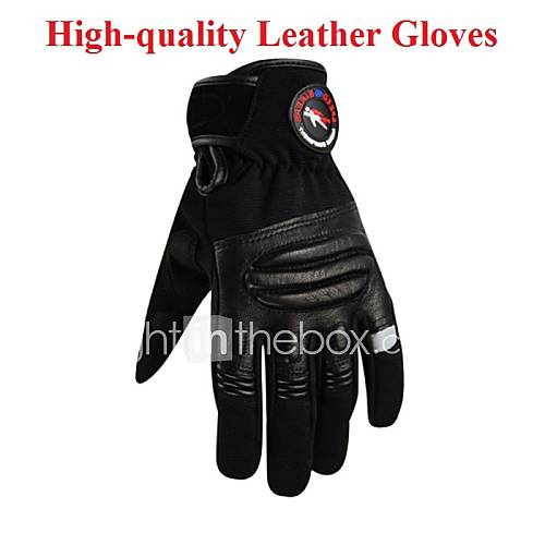 Men's High Quality Motorcycle Leather Gloves Motorcross Cycling Bike Breathable Full Finger Bicycle Touch Screen Gloves