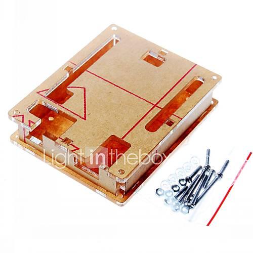 caja de acrílico transparente caja caso de la cubierta clara para Arduino UNO R3 bordo r3 Descuento en Miniinthebox