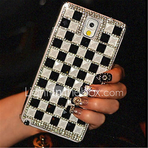 Case For Samsung Galaxy Samsung Galaxy Note Rhinestone Back Cover Geometric Pattern PC for Note 5 Note 4 Note 3
