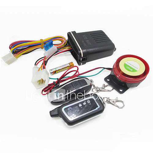 Motorcycle Scooter 2 Way Anti-theft Alarm Speaker 125dB Security System Remote Control Vibration Sensor Alarm