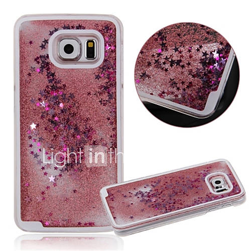 Case For Samsung Galaxy Samsung Galaxy Case Flowing Liquid Back Cover Cartoon PC for S6