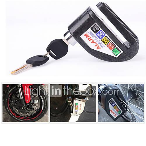 Motorcycle security Disc Lock Anti Thief throttle Alarm chain lock
