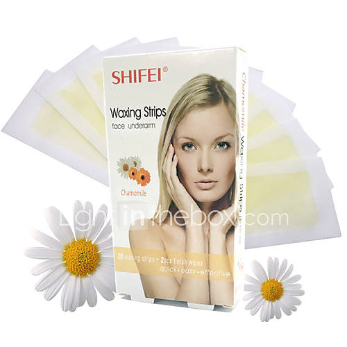 Chamomile Face Hair Removal Wax Strips Easy Quick Effective