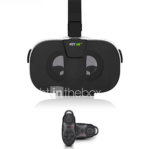 Fiit VR Virtual Reality 3D Glasses Headset Oculus Rift Head Mount Video Helmet for 4.0-6.5'phone Bluetooth Remote