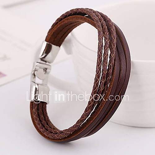 Punk Pure Handicraft Leather Bracelets 1pc