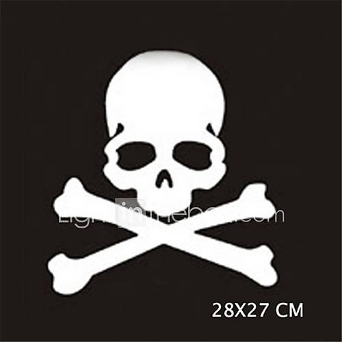 28X27CM Funny Ghost rider skulls Car Sticker Car Window Wall Decal Car Styling (1pcs)