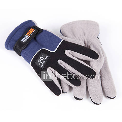 Men's Thermal Insulated Fleece Winter Outdoor Bicycle Motorcycle Sport Gloves Mittens