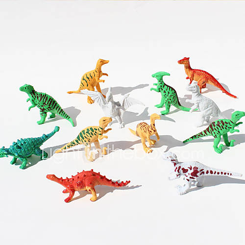 12pcs Dinosaurs Animal Action Figures Set Modeling Toys