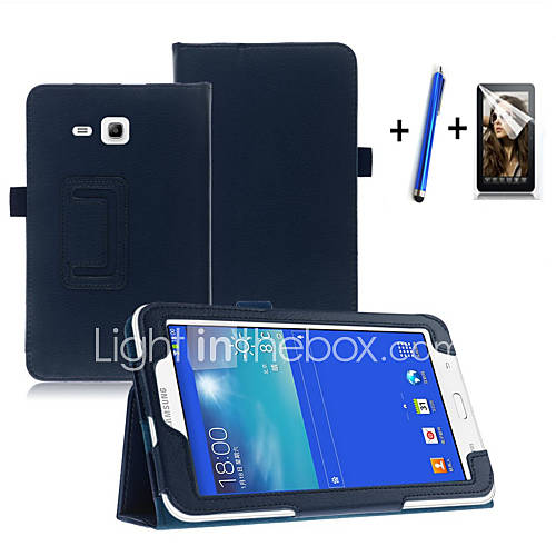 Fashion Top Quality Smart PU Leather Cover For Samsung Galaxy Tab 3 Lite 7.0 T110 Tablet CaseFree Screen Protector Pen