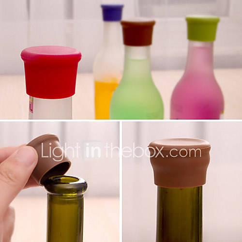Candy Color Silicone Bottle Stopper Fresh Beer Food Grade Cork Cruet Random Color