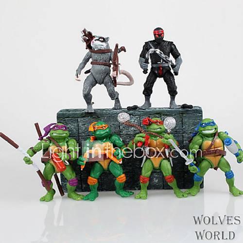 Mutant Ninja Turtles Nostalgia Edition Cartoon Figure 1 Set Anime Action Figures Model Toy