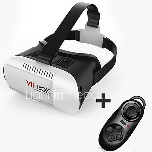 "Cardboard VR BOX Virtual Reality 3D Glasses 4.7-6.1"" bluetooth controller for iphone 6/6plus Samsung Galaxy S 6 5 4"