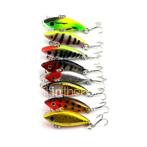 8Pieces Hengjia VIB Baits Vibration 2.75g 40mm Fishing Lures Random Colors