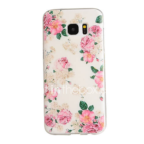 Case For Samsung Galaxy Samsung Galaxy S7 Edge Pattern Back Cover Flower TPU for S7 edge S7 S6 edge S6