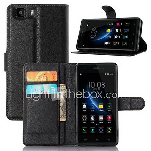 Embossed Card Wallet Bracket Type Protective Sleeve For Doogee X5 Pro Mobile Phone