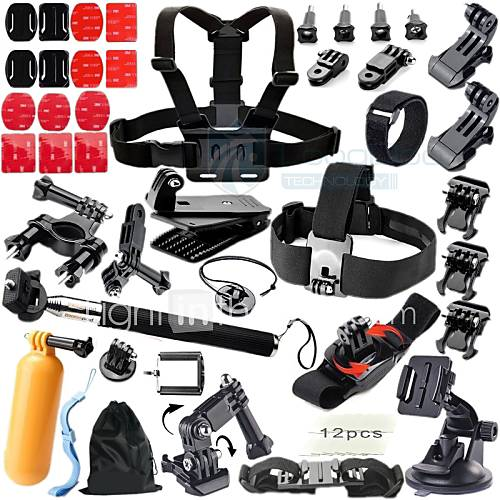 Accessories For GoPro Chest Harness / Front Mounting / Universal Adaptor / Monopod / Tripod / Suction Cup / Clip / Accessory Kit