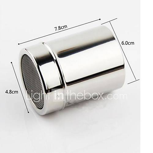 Stainless Steel Mechanical Icing Sugar Sifter Baking Flour Shaker Strainer Sieve