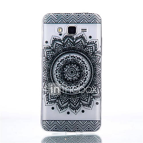 For Samsung Galaxy Case Transparent Case Back Cover Case Mandala TPU Samsung Grand Prime / Core Prime