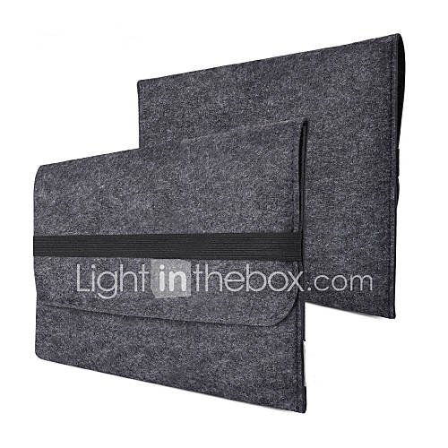 fieltro de lana bolso de la manga con la prueba de salpicaduras para el aire del macbook de la manzana 11 13 13 y MacBook Pro 15 con la Miniinthebox por 9.79€