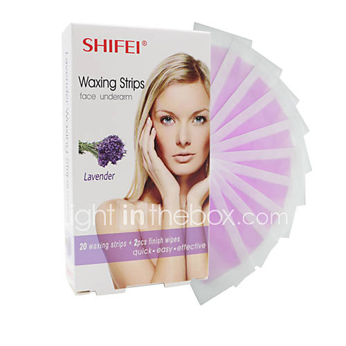 Hair Remove Wax Strips Lavender For Face Chin Eyebrow
