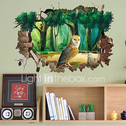3D Wall Stickers Wall Decals Style Owl PVC Wall Stickers