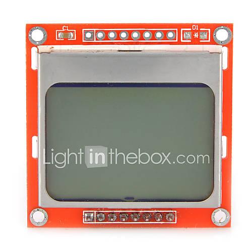LCD de Nokia 5110 lcd módulo de 1,6 pulgadas con retroiluminación blanca para Arduino Descuento en Miniinthebox