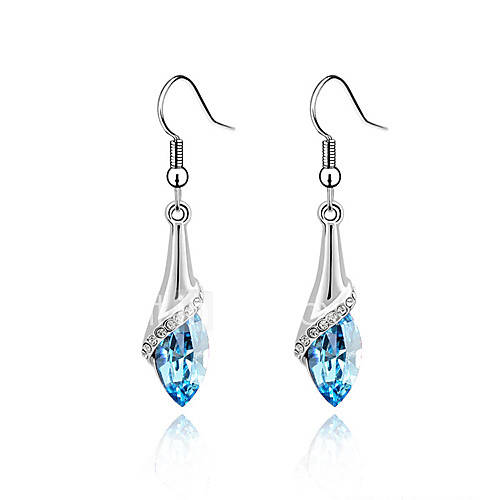 Women's Drop Earrings Crystal Glass Alloy Butterfly Animal Jewelry Purple Rose Green Blue Party Daily Casual Costume Jewelry