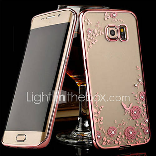 Case For Samsung Galaxy Samsung Galaxy S7 Edge Transparent Back Cover Flower TPU for S8 Plus S8 S7 edge S7 S6 edge plus S6 edge S6 S5