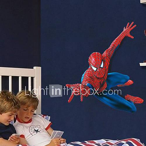 Wall Stickers Wall Decals Cartoon Super Spider-Man Children Love PVC Wall Stickers