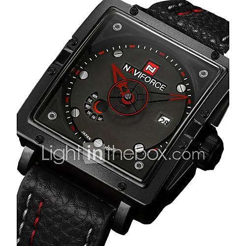 NAVIFORCE Brand Watches Men Sports Watches Men's Quartz Analog Date Clock Man Army Casual  WristWatch Wrist Watch Cool Watch Unique Watch