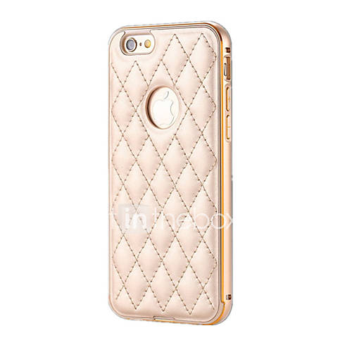 Case For iPhone 6 iPhone 6 Plus Plating Back Cover Solid Color Hard Aluminium for iPhone 6s Plus iPhone 6 Plus iPhone 6s iPhone 6