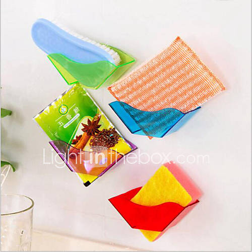 Useful Double Suction Cup Sink Shelf Soap Sponge Drain Rack Kitchen Sucker Storage Tool