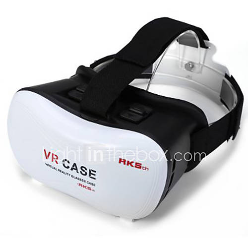 2016 VR BOX Google Cardboard 3D Movie VR Case Head Mount Plastic VR BOX Version Virtual Reality Glasses for Smart Phone