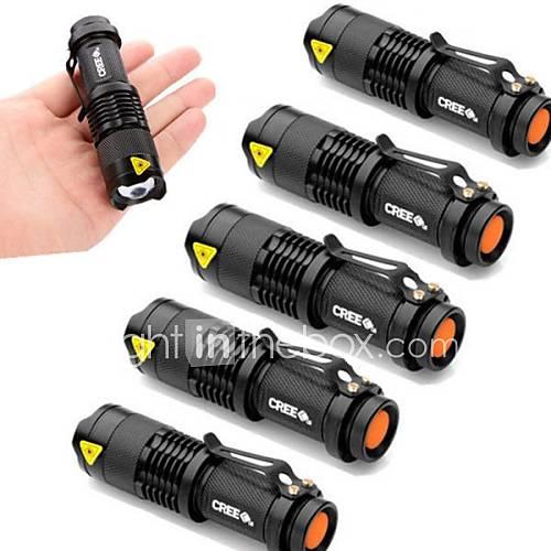 Lights LED Flashlights/Torch LED 2000 Lumens 3 Mode Cree XR-E Q5 14500 / AAAdjustable Focus / Waterproof / Impact Resistant / Pocket /